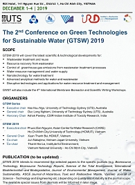 The 2nd Conference on Green Technologies for Sustainable Water (GTSW) 2019